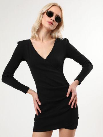 שמלת מעטפת ריב מיני