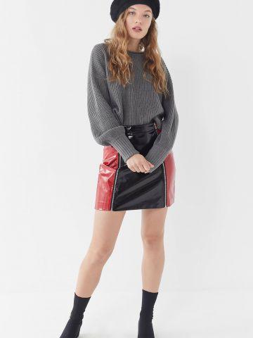 סוודר בייסיק עם מנג'טים ריב גדולים UO של URBAN OUTFITTERS