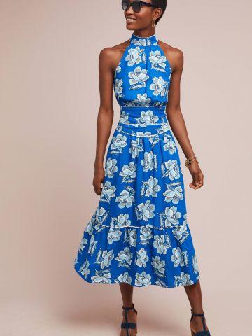 חצאית מידי פפלום בהדפס פרחים Maeve