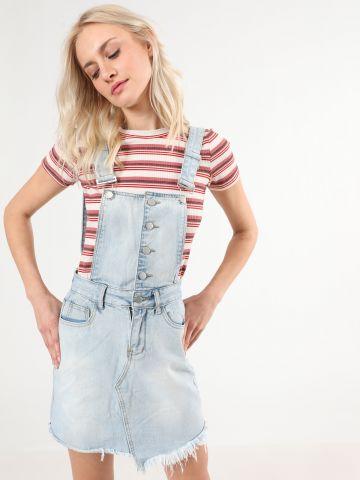 סרפן ג'ינס עם סיומת פרנזים