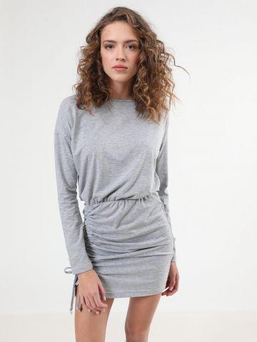 שמלת מיני מלאנז' עם כיווץ