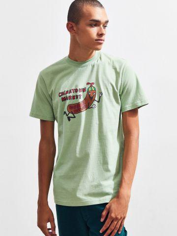 טי שירט עם הדפס נקניקייה צבעוני Weenie Hut JR's X Chinatown