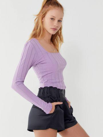 חולצת ריב שרוולים ארוכים UO
