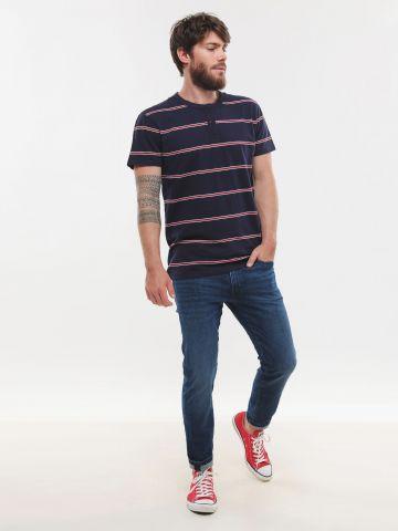 ג'ינס סלים בשטיפה כהה 512