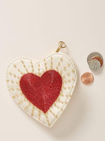 ארנק מטבעות בצורת לב