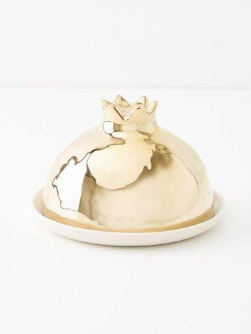 כלי להגשת חמאה בצורת רימון