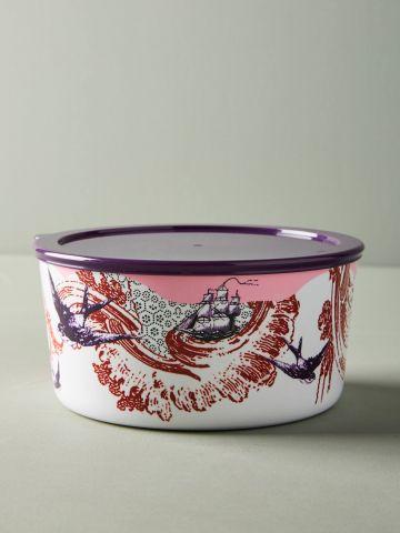 קופסת אחסון עם הדפסי ציפורים