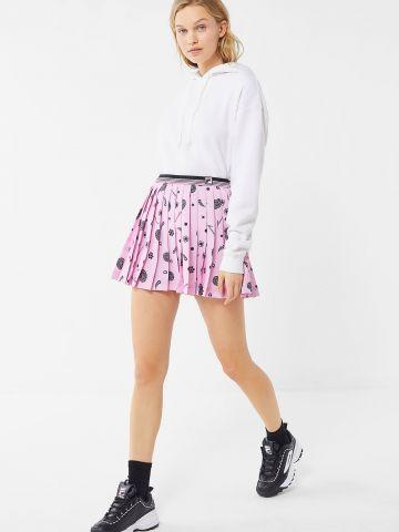 חצאית מיני פליסה בהדפס פייסלי FILA X Fleamadonna UO