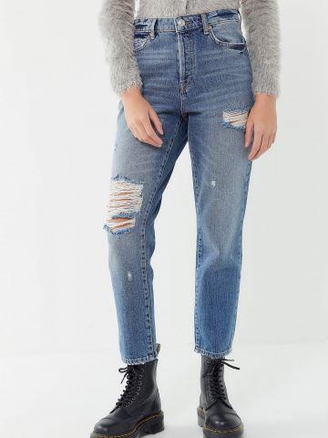 ג'ינס בגזרת Slim Straight עם קרעים BDG