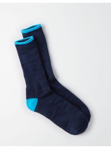 גרביים מעל הקרסול עם קצוות מודגשים / גברים