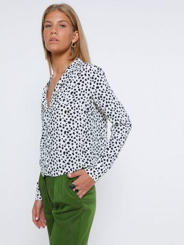 חולצה מכופתרת בהדפס חברבורות של GLAMOROUS
