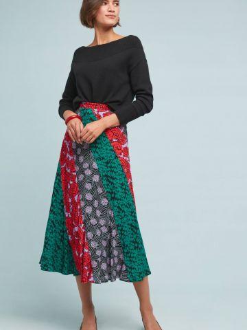 חצאית מידי בהדפס מולטי קולור Maeve