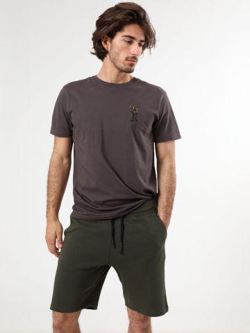 מכנסי פוטר ברמודה עם סטריפים