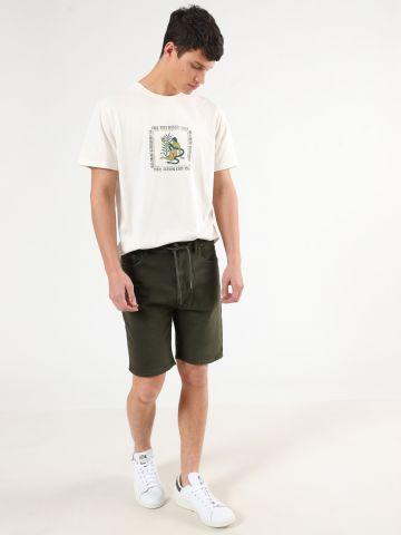ג'ינס קצר עם שרוך קשירה