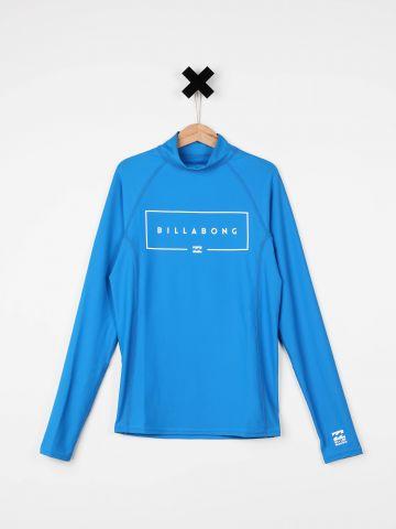 חולצת גלישה לוגו עם שרוולים ארוכים / בנים