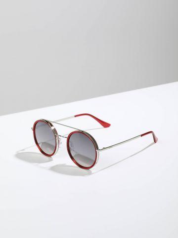 משקפי שמש עגולים עם מסגרת פלסטיק Narita