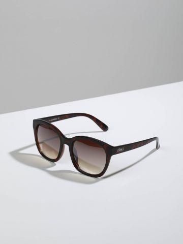 משקפי שמש מרובעים עם מסגרת פלסטיק בסגנון מנומר La-Guardia
