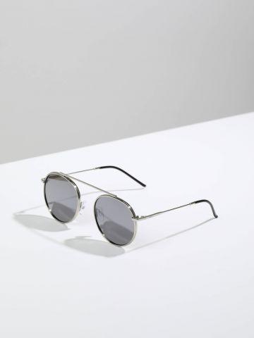 משקפי שמש עגולים עם מסגרת דקה Berlin