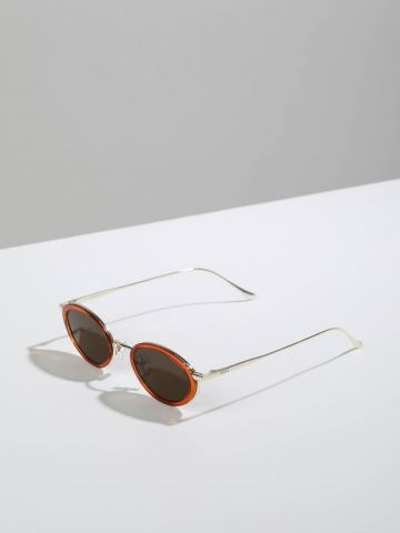 משקפי שמש אובליים עם מסגרת פלסטיק Frankfurt
