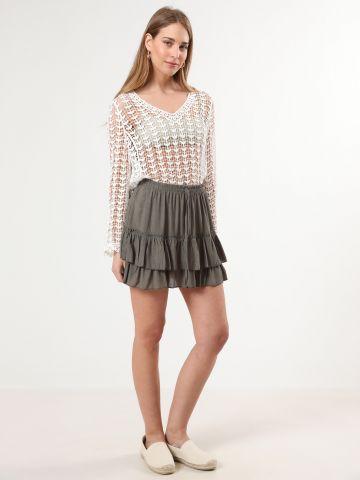 חצאית קומות פפלום מיני