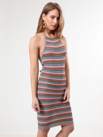 שמלת קרושה קולר מידי מולטי קולור