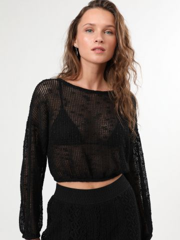 חולצת רשת קרופ