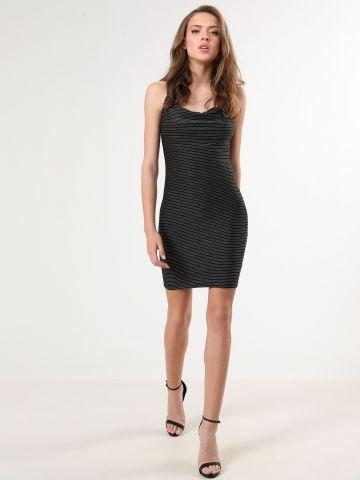 שמלת מיני בשילוב פסי לורקס