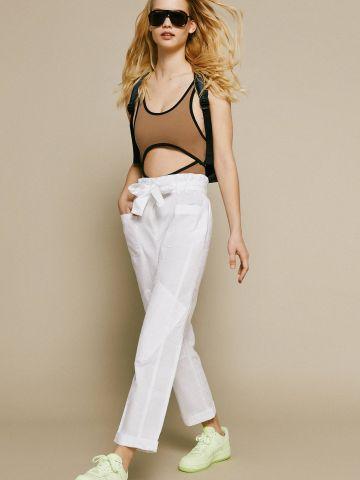מכנסי פייפרבאג עם חגורת קשירה UO