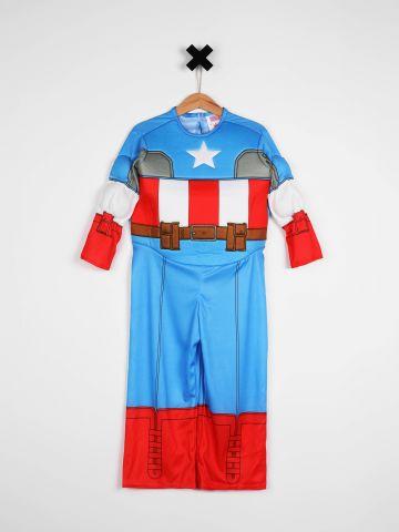 תחפושת קפטן אמריקה במבנה שרירי / תחפושות לפורים