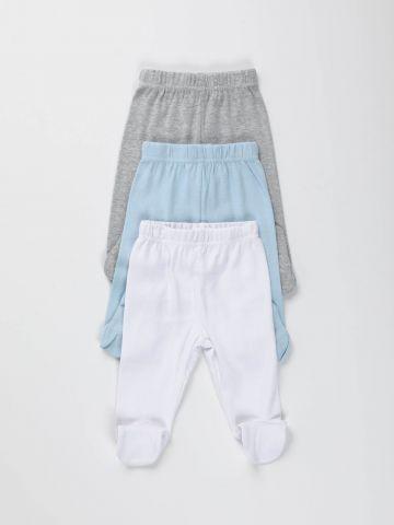 מארז 3 מכנסיים עם רגליות/ בייבי בנים