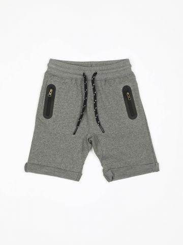 מכנסי טרנינג ברמודה עם רוכסנים / בייבי בנים