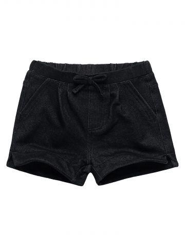 מכנסיים קצרים עם פפיון / בייבי בנות