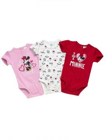 מארז 3 בגדי גוף Minnie Mouse / בייבי בנות