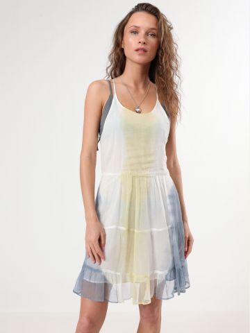 שמלת טאי דאי מיני עם מלמלה