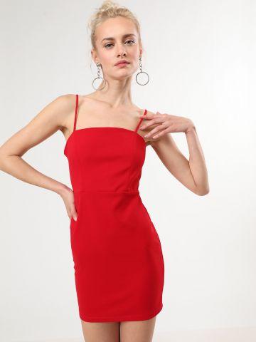 שמלת מיני עם כתפיות דקות
