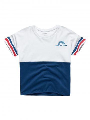 חולצת טי שירט 2 צבעים / בנות