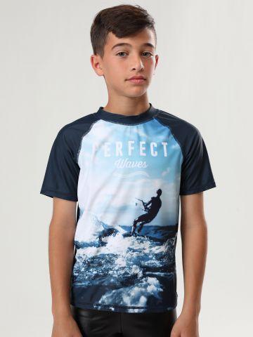 חולצת גלישה עם הדפס קייט Perfect Waves