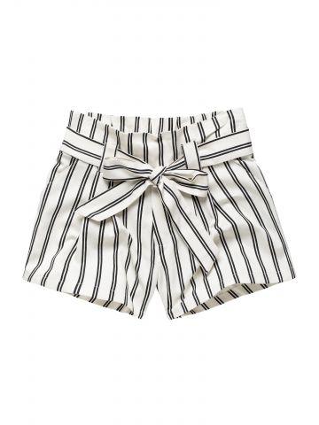מכנסיים קצרים בהדפס פסים / בנות