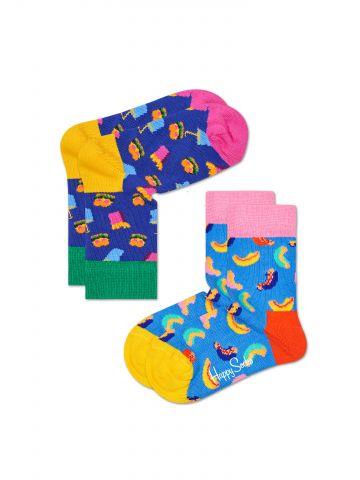 מארז 2 זוגות גרביים בהדפסים צבעוניים / בייבי