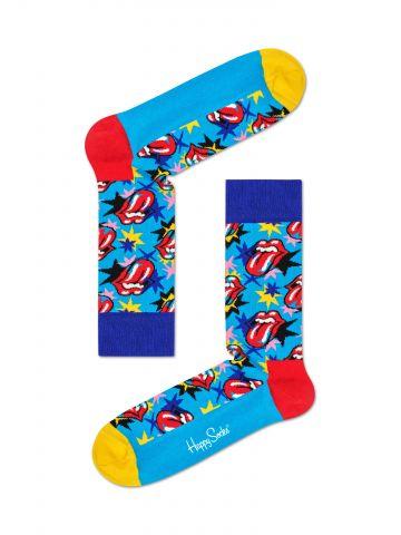 גרביים גבוהים בהדפס Rolling Stones / נשים