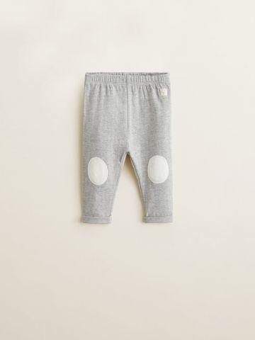 מכנסי טרנינג עם פאצ'ים בברכיים/ בייבי בנות