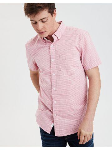 חולצה מכופתרת בהדפס פסים דקים