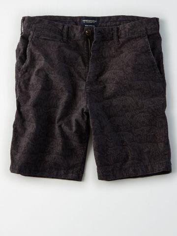 מכנסיים מחויטים קצרים בהדפס נמרים / גברים