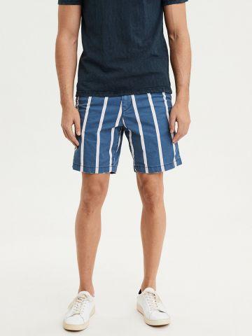 מכנסיים מחוייטים קצרים בהדפס פסים של AMERICAN EAGLE