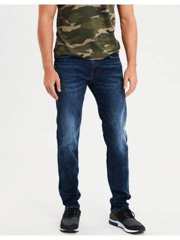 ג'ינס סלים בשטיפה כהה עם ווש Slim Straight