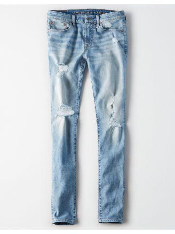 ג'ינס סקיני ווש עם קרעים Skinny / גברים