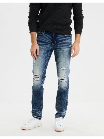 ג'ינס סלים בשטיפה כהה עם אסיד ווש Slim