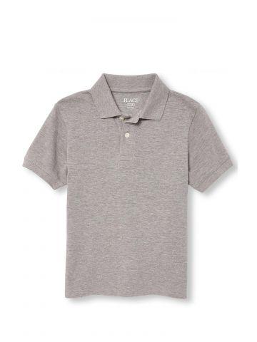 חולצת פולו פיקה מלאנז' / בנים