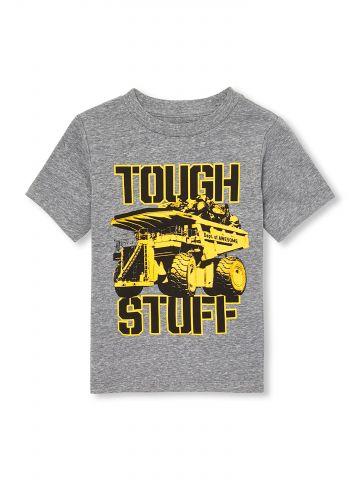 טי שירט עם הדפס טנק Tough Stuff / בייבי בנים