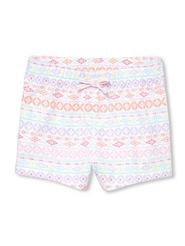 מכנסי טרנינג קצרים בהדפס עיגולים / בייבי בנות